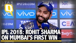 connectYoutube - Mumbai Indian skipper Rohit Sharma on team's first win of IPL 2018   The Quint