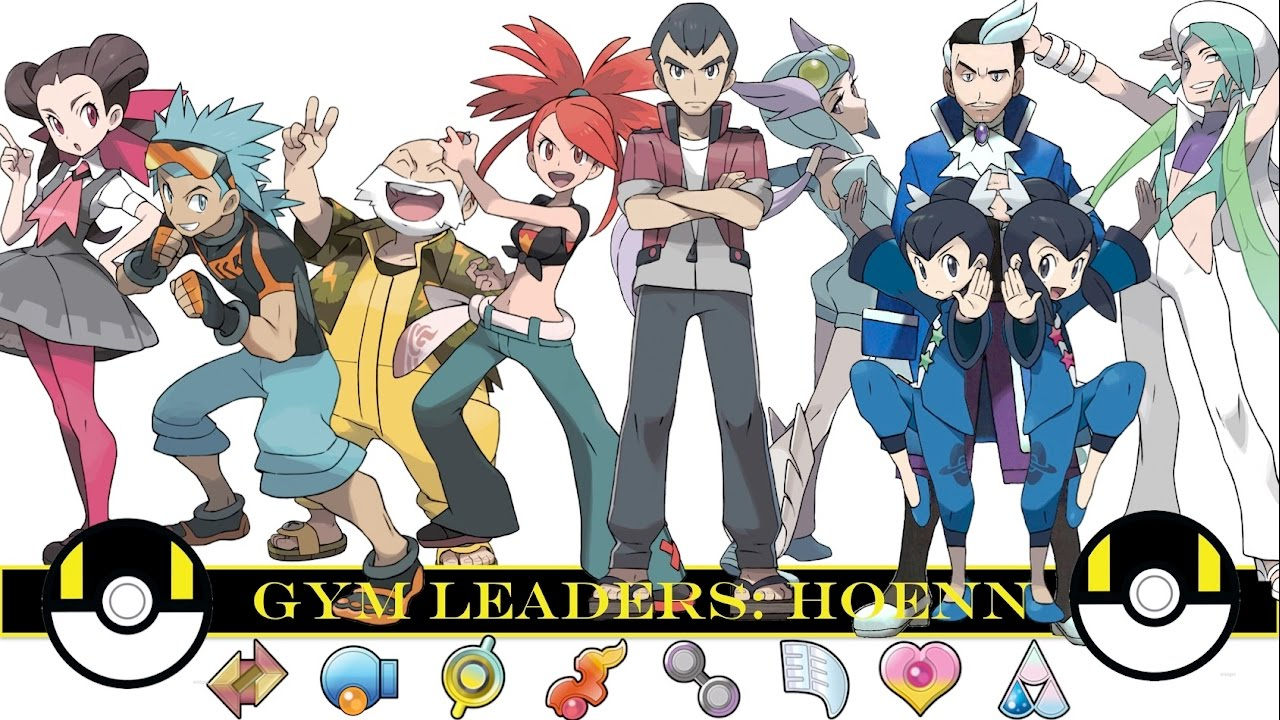 pokemon gym leaders hoenn youtube
