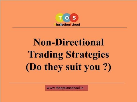 Non- Directional Trading Strategies – Let's talk about options by THE OPTION SCHOOL