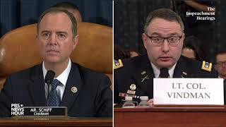 WATCH: Schiff's full questioning of Vindman and Williams | Trump impeachment hearings