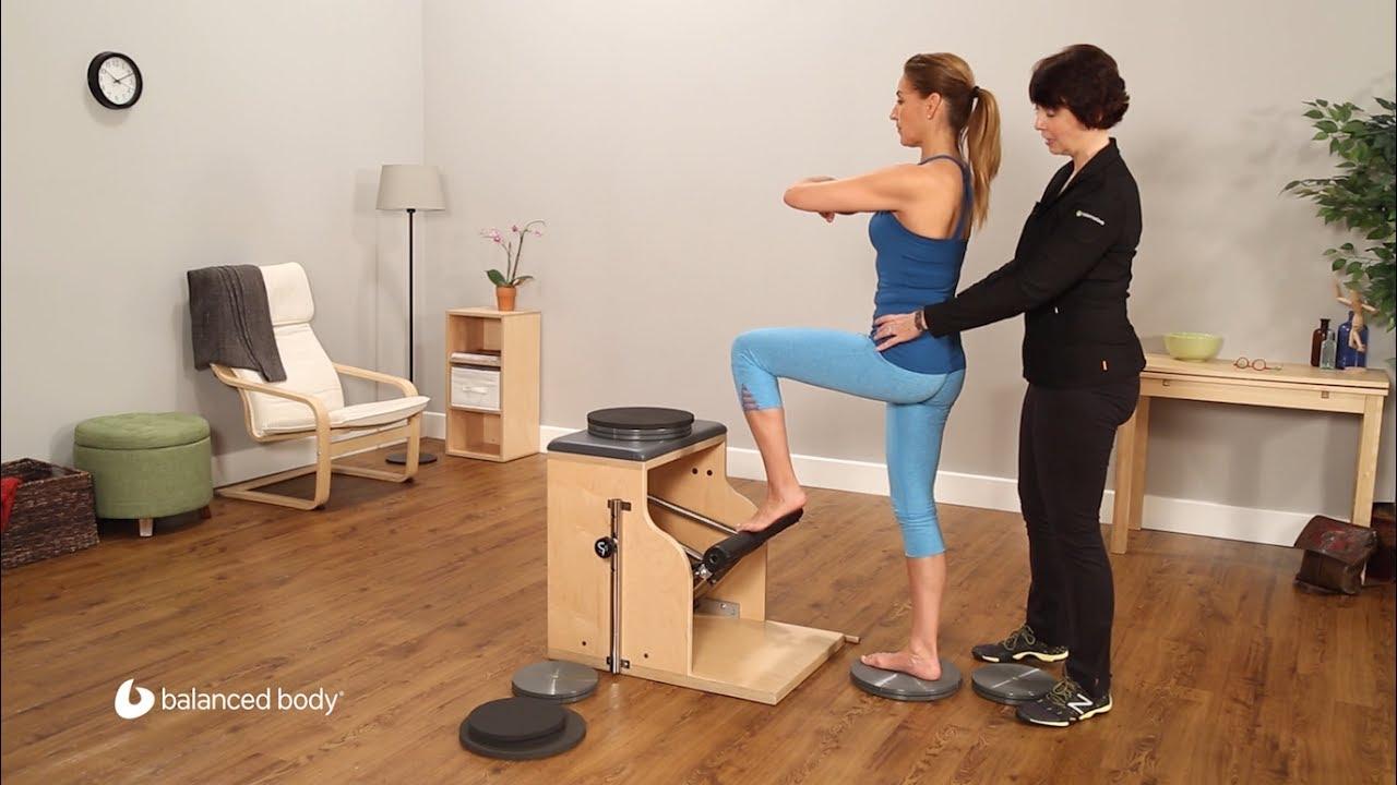 Balanced body pilates chair - Precision Rotator Discs With The Pilates Chair Balanced Body