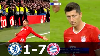 Chelsea vs Bayern Munich 1-7 (agg) -  Lewandowski & Gnabry  Destroyed Chelsea on UCL 2019/2020 1080p