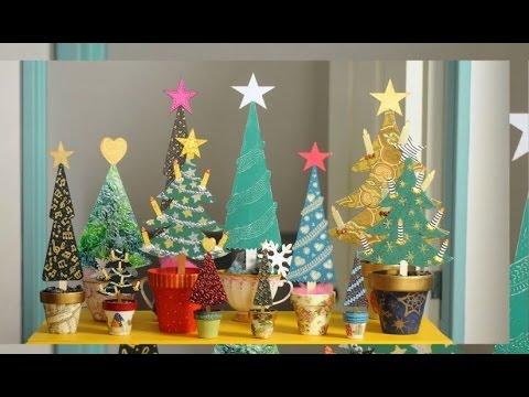 Pintar arbolitos de navidad en madera ideas navide as - Decorar madera con pintura ...
