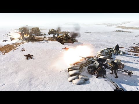 1944 German Evacuation Convoy Defense Line | RobZ | Men of War: Assault Squad 2 Gameplay