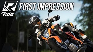 Ride PC Steam First Impression Gameplay