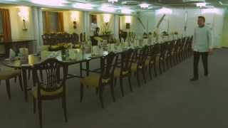 Time Lapse Of A Table Set-up For An Exclusive Evening Event Aboard The Royal Yacht Britannia