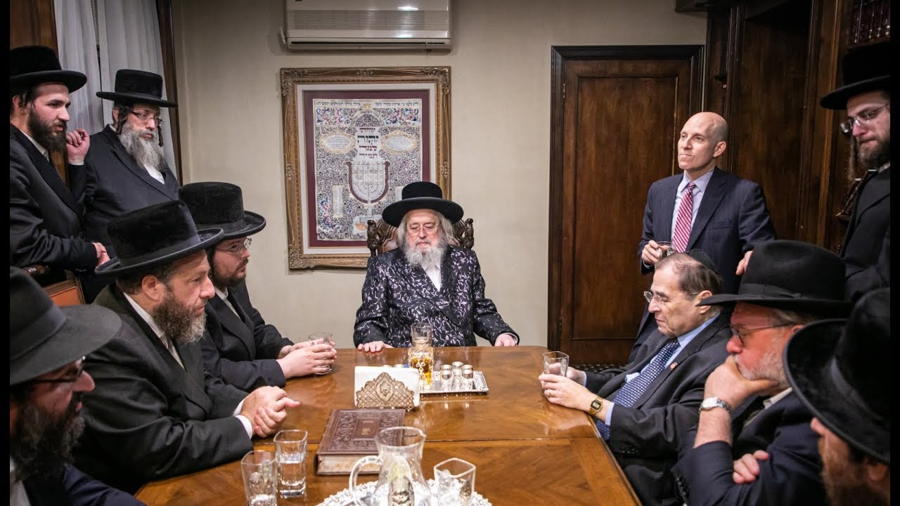 Rep. Jerry Nadler Visits The Munkatcher Rebbe Shlita