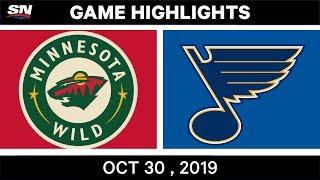 NHL Highlights   Wild vs. Blues – Oct. 30, 2019