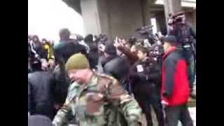Майдан в Верховной Рады Крыма 26 02 2014 Украина майдан,беркут