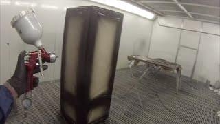 How to Spray Paint a Fridge in Satin Black