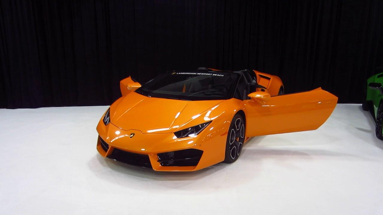 2017 Oc Auto Show New 2017 Lamborghini Huracan Orange Paint