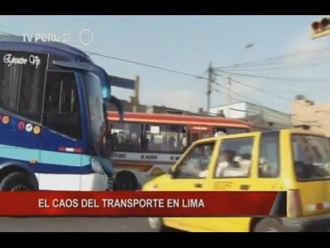 El caos del transporte en Lima