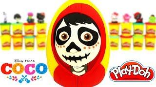 Huevo Sorpresa Gigante de Coco La Película en Español de Plastilina Play Doh thumbnail