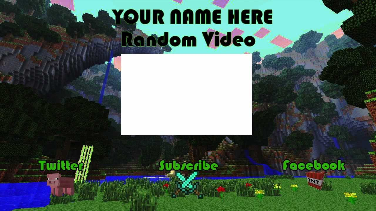 minecraft outro template movie maker - free minecraft outro template free outros