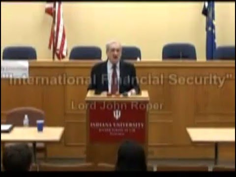 "Lord John Roper - ""International Financial Security"" Part 2"
