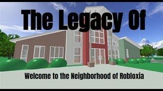 L'héritage de Bienvenue dans le quartier de Robloxia
