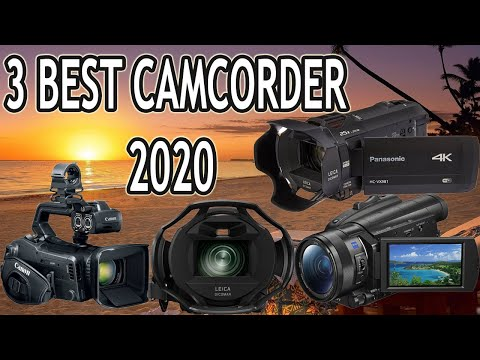 3 Best Camcorders In 2020| Best Professional 4K Ultra HD Video Cameras