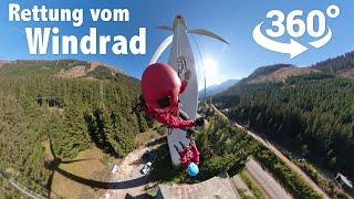 Spektakuläre Rettung vom Windrad |Bergrettung Vordernberg | 360 Grad VR Video