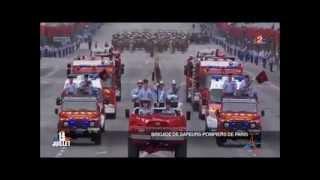 Défilé de la brigade de sapeurs-pompiers de Paris le 14 juillet 2014