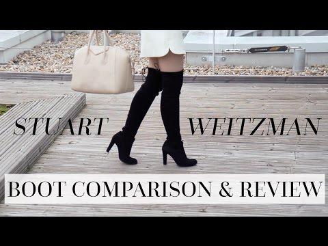 Stuart Weitzman Highlands vs. Lowlands vs. 5050 Boot Comparison and Review!