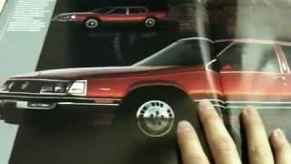 1985 Buick Electra Park Avenue Brochure unboxing / quick overview