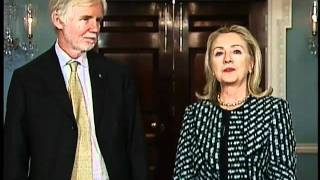 Secretary Clinton Delivers Remarks With Finnish Minister for Foreign Affairs Tuomioja