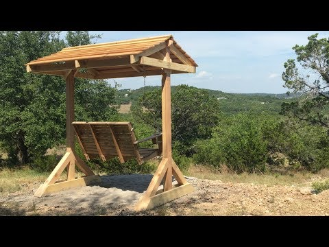 How to Build A Porch Swing Frame