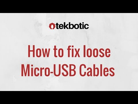 How to Fix Loose Micro USB Cable : Falls out / Not Charging / Clean Charge Port - Android
