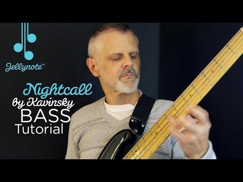 Nightcall by Kavinsky - Easy Bass Tutorial (Jellynote)