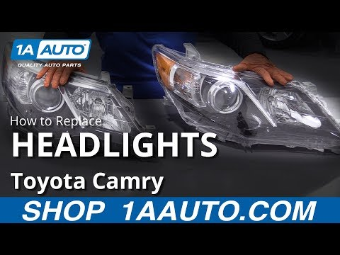 How to Replace Headlight Assemblies 11-17 Toyota Camry