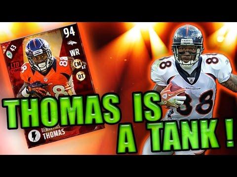 94 OVR FLASHBACK DEMARYIUS THOMAS RUNNING THROUGH DBS! - MADDEN NFL 17 ULTIMATE TEAM