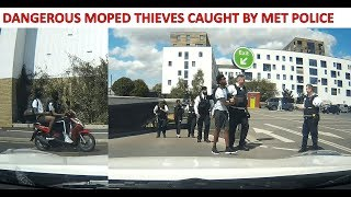 LONDON KNIFE POINT MOPED THIEVES CAUGHT BY MET POLICE (Read Description)
