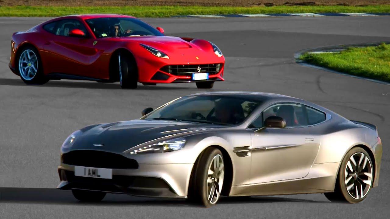 Ferrari F12 Vs Aston Martin Vanquish Drift Contest