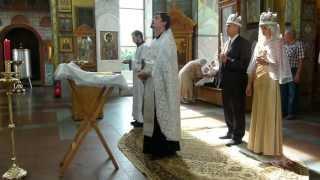 Обряд венчания в церкви на Поклонной горе