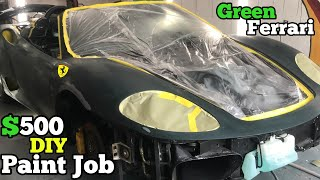 getting-a-500-full-paint-job-on-my-worn-out-salvage-ferrari-diy-in-home-garage