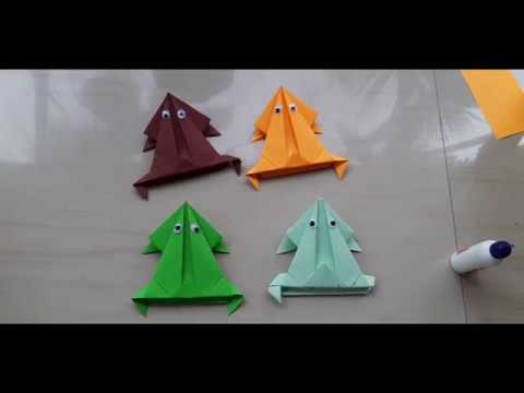 How to make Jumping Paper frog/ പേപ്പർ തവള