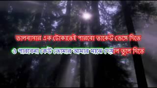 Chokh Tule Dekho Na Ke Eseche Karaoke | With Lyrics ( scrolling ) | Sasurbari Jindabad 2000