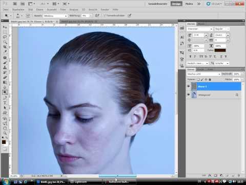 Kristina Bode Tutorial - Hautbearbeitung mit Dodge...