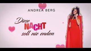 Andrea Berg - Diese Nacht soll nie enden (Offizielles Lyricvideo)