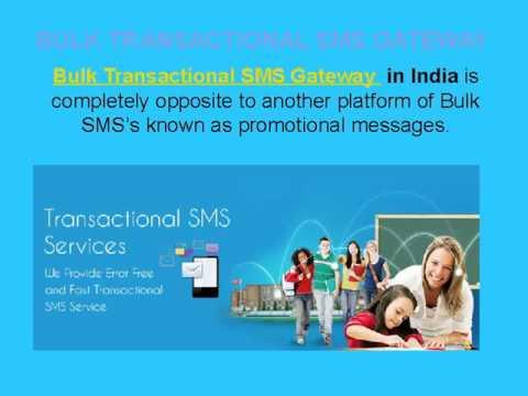 Bulk Transactional SMS Gateway in India Confidential Data