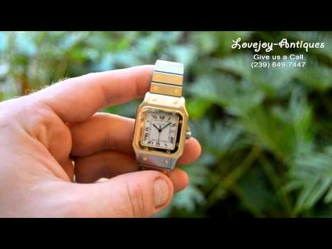 Men Cartier Santos 18k/SS Automatic Mens Watch