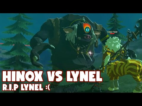 Breath of the Wild: Hinox Kills Gold Lynel   RIP GOLD LYNEL