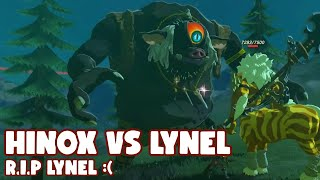 Breath of the Wild: Hinox Kills Gold Lynel | RIP GOLD LYNEL