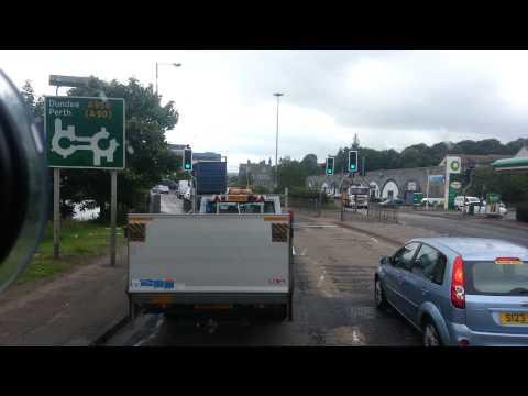 Driving through Aberdeen