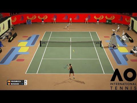 Garbiñe Muguruza vs Ana Bogdan - AO International Tennis - PS4 Gameplay