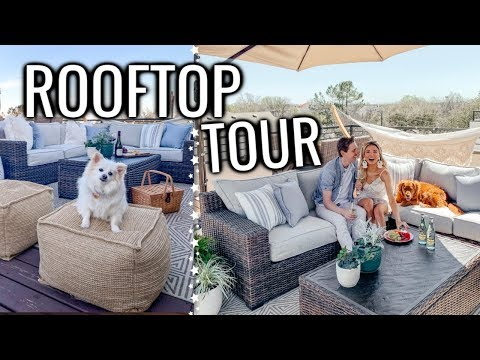 OUR ROOFTOP PATIO TOUR