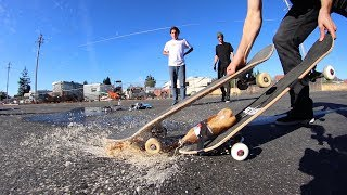 COKE AND MENTOS PROPELLED SKATEBOARD EXPERIMENT