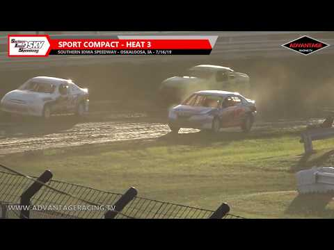 Sport Compact Heats - Southern Iowa Speedway - 7/16/19