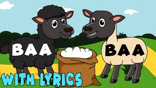 Baa Baa Black Sheep WITH LYRICS | Nursery Rhymes And Kids Songs | Puppy Hey Hey