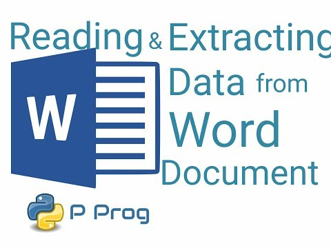 Reading and Extracting Data from a MS Word File